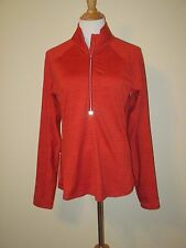 Athleta Running Wild Stripe Half Zip, Fire Red, Jacket Pullover- size Large-EUC