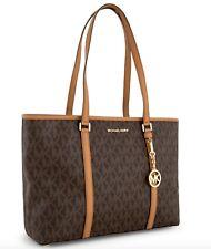 Michael Kors * Sady 35T7GD4T7B Large Top Zip Tote Bag Signature Brown COD PayPal