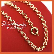 18K GOLD GF WOMEN LADY SOLID BELCHER RINGS LINKS CHAIN DRESS NECKLACE GIFT 50CM