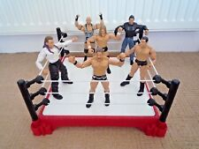 WWE / WWF WRESTLING RING WITH 6 WRESTLING FIGURES