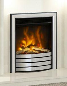 "ELECTRIC INSET FIRE MODERN LED FLAME ELGIN & HALL PRYZM 16"" DEVOTION TRIM 2kW"