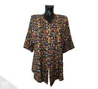 NEW JERSEY Damen Top Tunika Sommer T-Shirt Paint Windows Viskose *Made in EU 809