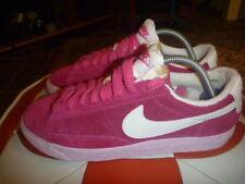 Nike Blazer Low Premium Vintage Taglia UK 4 Pelle Rosa in Pelle Scamosciata Scarpe Da Ginnastica