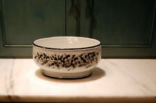 English Victorian Porcelain Black White Pansy Bowl