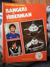 Away Teams F-K Scottish Cups Final Football Programmes
