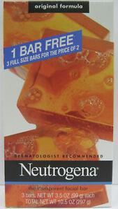 Neutrogena Transparent Facial Bars BONUS PACK 3x 3.5oz***BUY MORE & SAVE MORE***
