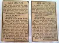 VINTAGE Newspaper ART Print AD~ ANTIQUE ORIG EARLY 1900's -D9-63
