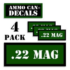 "22 MAG Ammo Can 4x Labels for Ammunition Case 3"" x 1.15"" sticker decal 4 pack GR"