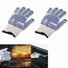 US 2pcs Heat Proof Oven Gloves Hot Resistance Mitts Surface Hand Protective Tool