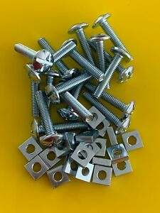 M6 X 12 CROSS SLOTTED MUSHROOM HEAD ROOFING BOLT AND SQUARE NUT ZINC PLATED