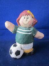 Eddie Walker Soccer Girl wearing Jersey #10 with Ball