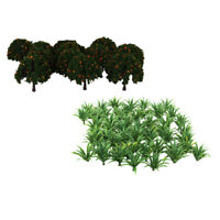 Train Railway Street Layout Scene Building Tree&Grass Model Toys HO OO 70Pcs