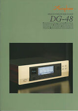 Accuphase DG-48 Katalog Prospekt Catalogue Datasheet Brochure