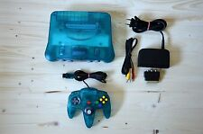 N64 - Nintendo 64 Konsole Clear Ice Blue mit Original Controller