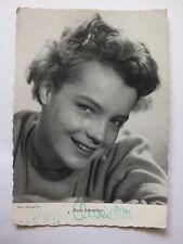Autogrammkarte, Herzog-Film mit original Autogramm Romy Schneider, 50-er Jahre