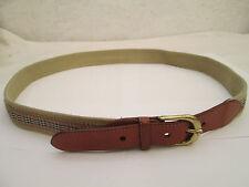 AUTHENTIQUE ceinture BURBERRYS of London cuir et toile TBEG vintage à saisir 91c2242f148