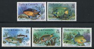 Turks & Caicos 1983 Fische Fishes Poissons Pesci 413-419 III (5) Postfrisch MNH