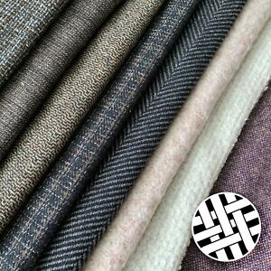 Poly Wool Fabric Twill Yarn Dyed - Sold by the Meter