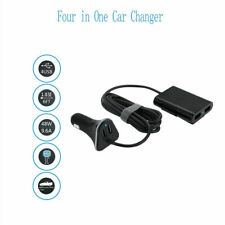 Universal 4-Port Car Suv Usb Charger Front Back Seat Adaptor 9.6A For Phone Gps