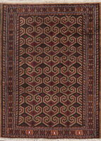 Geometric Balouch Afghan Oriental Area Rug Wool Hand-Knotted Foyer Carpet 3'x4'