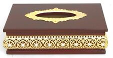 Home / office/ wood tissue box holder decorated with resin