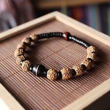 Rudraksha Tiger eye Beads Bracele Unisex Ethnic Natural Coconut shell With