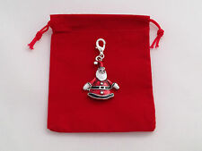 Santa Clip on Charm with Red Gift Bag by Libby's Market Place - FREE P&P