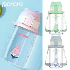450ml Baby Kids Toddler School Drinking Water Straw Bottle Sippy Cup Suction Cup