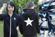 Jacket,Black Rock Shooter,Kuroi Mato,plus velours Épaissir Sweat à Vestes