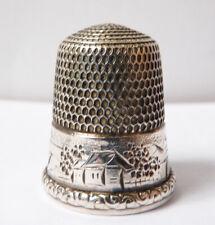 Dé à coudre en argent massif Sterling vers 1900 silver thimble