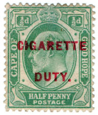 (I.B) Cape of Good Hope Revenue : Cigarette Duty ½d
