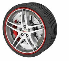 """Alloy Wheel Protector for 13 14 15 16 17 18 19 20 21 22 """" Red Trim"""