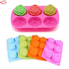 Large Rose Flower Silicone Cake Mold Soap Mold Candy Chocolate Baking Mould Tool