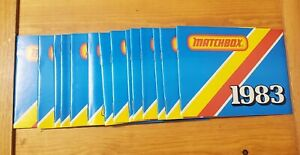 Lot of 15 Vintage 1983 Matchbox Collectors booklet Catalog's New Free Shipping