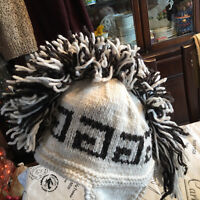 Wool Mohawk Winter Hat Made in Ecuador One Size