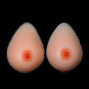 Silicone Fake Breast Forms Waterdrop Mastectomy Boobs Bra Enhancer Crossdresser
