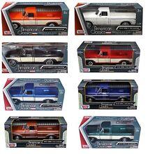 1/24 MotorMax 1979 Ford F-150 Custom Pickup Truck Diecast Different Colors 79346