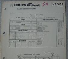 Philips np1029 Haicom pour valise périphériques service feuille
