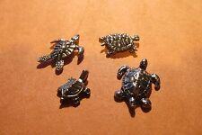 Four Pewter Tortoise Turtle Figurines