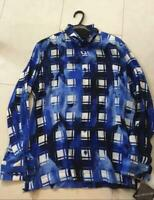 ISSEY MIYAKE MEN Stamp Checkered Shirt Hand-dyed Size M 2017ss Rare From JAPAN