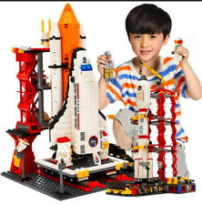 Space Shuttle Launch Station Rocket Game Play Building Blocks Play Set Kid Block