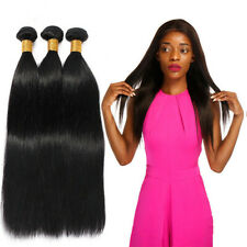 3Bundles 150g 100% Brazilian Reml Virgin Straight Wave Human Hair Bundles Weft