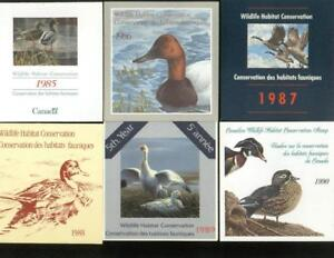Canada Wildlife Habitat Conservation Stamps FWH1-FWH6