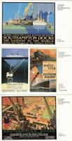 3  x  Postcards - ' POSTERS of  the  SOUTHAMPTON  DOCKS ' Hampshire  ( Wm 23  )