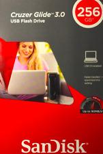 NEW SanDisk CZ600 Cruzer Glide 256 GB USB 3.0 Flash Drive