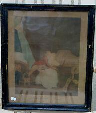 """Louis Boilly - """"Prélude de Nina"""" - Gravure en couleur XIXe s."""