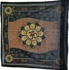Om Lotus Brown Black Design Altar Cloth 36 x 36 Wiccan Pagan Altar RAC009
