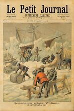 Polar Expedition of Walter Wellman American Explorer Camp on Ice  1894