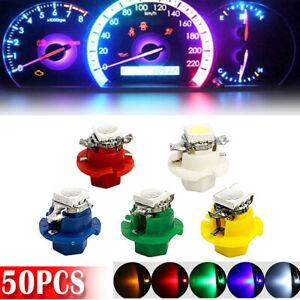 50x T5 B8.4D 1SMD LED Car Indicator Cluster Gauge Dashboard Dash Bulb Side Light