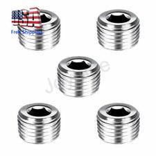 5Pcs Stainless Steel Internal Hex Thread Socket Pipe Plug 1/8